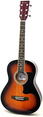 Blue Moon BG-14-V - Guitarra acústica (tamaño 3/4 )