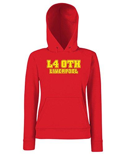T-Shirtshock - Sweats a capuche Femme WC1234 liverpool-postcode-tshirt design Rouge