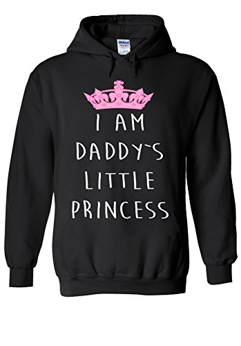 Daddy Hoodie (I Am Daddy`s Litle Princess Novelty Black Men Women Unisex Hooded Sweatshirt Hoodie-S)