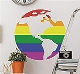 autocollant mural stickers muraux 3d Autocollant mural gay Globe pour salon chambre chambre d'enfant chambre d'enfant