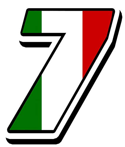 Biomar Labs Startnummer Nummern Auto Moto Vinyl Aufkleber Italien Flagge Sticker Motorrad Motocross Motorsport Racing Nummer Tuning 7, N 317