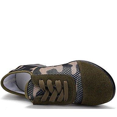 Scarpe da ballo delle donne Sintetico Danza Sneakers / scarpe da ginnastica moderne tacco basso allaperto verde militare, verde militare, US8 / Army Green