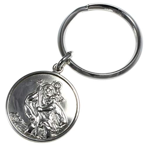 Schlüsselanhänger St. Christophorus Sterling-Silber 925