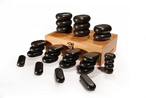Set Profesional de Piedras Calientes para Masaje | 28 Piedras de Basalto natural |