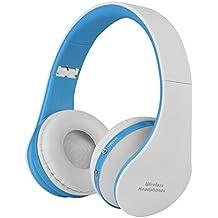 VBESTLIFE Auriculares de Diadema Plegable Inalámbricos Bluetooth 4.1 Audio de Alta Fidelidad y HiFi, Almohadillias