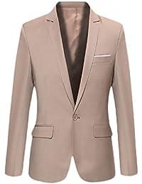 BOLAWOO Blazer Hombre Elegantes Casual Slim Fit Cuello Solapa Chaquetas  Negocios Office Wear Chaqueta Americana Hombre 0b8a4da25f66