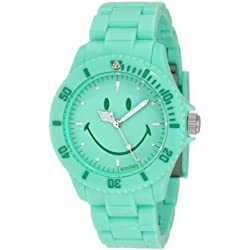"Smiley ""Happy Time"" Ladies Pretty Pastel Green Analogue Watch WGS-PPGV01"