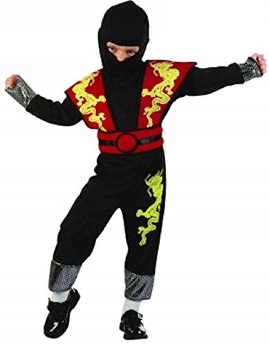 Kleinkinder, chinesisch/orientalisch Ninja Kostüm unter 4 Jahren (Kleinkinder Für Kostüme Chinesische)