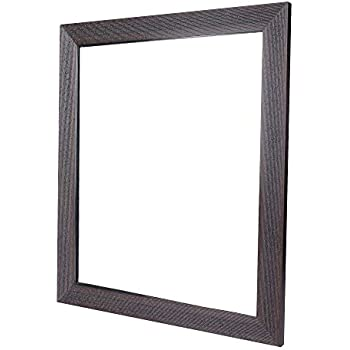 Sifty Collections Fiber Wood Wall Mirror for Dressing Mirror,Bedroom Mirror,Bathroom Mirror,Makeup Mirror Water Resistant (12x14Inch)