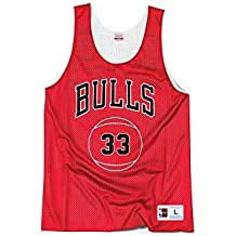 Mitchell & Ness NBA Chicago Bulls Scottie Pippen 33 Retro Reversible Practice Tank Top, Camiseta