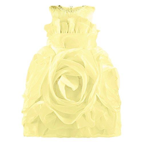 FEST vestito, costume per bambine in Rose Chiffon Giallo giallo 128/134 (Etikett 140)