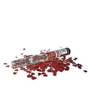 24 x HC-Handel 912183 Konfetti Popper Shooter mit Herzen 40 cm