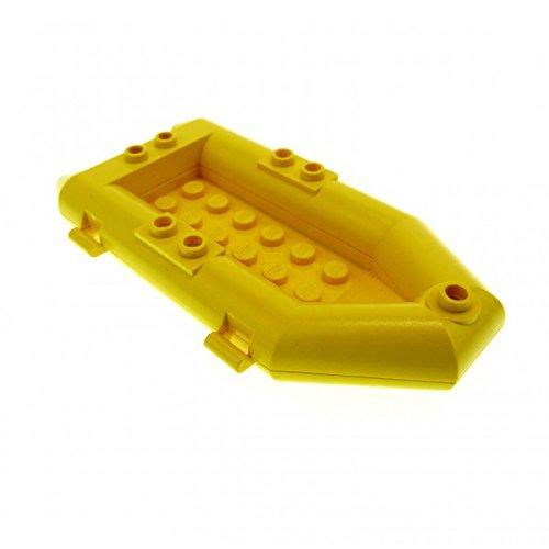 Preisvergleich Produktbild 1 x Lego System Boot gelb Schlauchboot Ruderboot City Extreme Team Adventure 1782 6584 7906 6451 6559 6435 30086