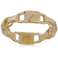 Michael Kors Women Cubic Zirconia Rhodium Gold Plated Ring  7.5 US