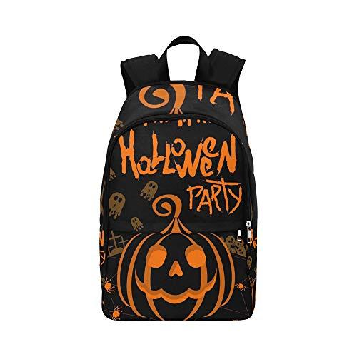 Vektor Halloween Party Poster Vorlage Kürbis lässig Daypack Reisetasche College School Rucksack für Herren und Frauen