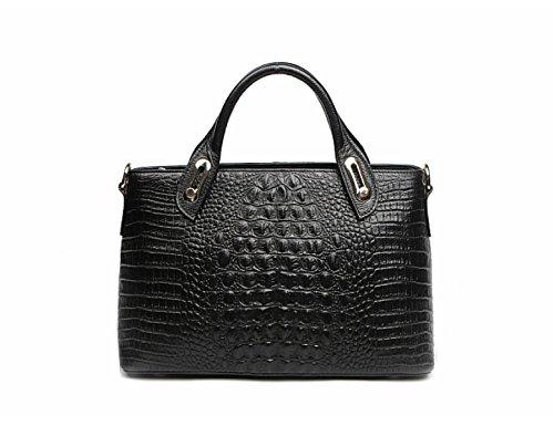 Borse In Pelle PACK Borsa Portafogli Portatile In Europa E Negli Stati Uniti Ladies Big Bags,A:Black A:Black