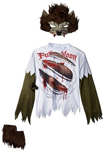Boy Mädchen Beast Kostüm - Wolfsjunge Werwolf Kostüm für Kinder - Gr. 134/140