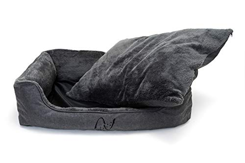 Happilax waschbares Hundebett mit wendbarem Kissen, Hundekörbchen für mittelgroße und kleine Hunde - 2
