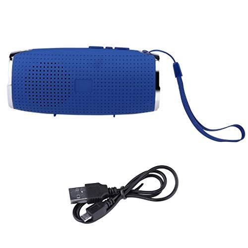 Xmiral Enceintes fd-3 big Bass USB Orateur Mains Libres Bluetooth sans Fil portatif Carte Aide TF (Bleu)