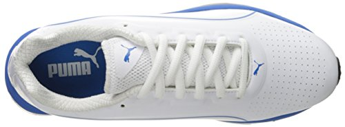 Puma Voltage 180 SL Synthétique Baskets White-Electric Blue Lemonade
