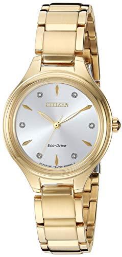 Citizen Corso Damen-Armbanduhr Diamant 29mm Edelstahl Solarbetrieben FE2102-55A