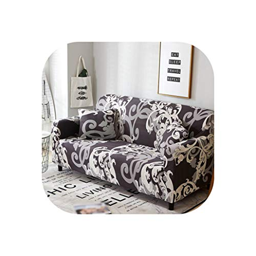 Love every day Geometrischer Sofabezug aus Baumwolle Stretch Couch-Überzug elastisch für Wohnzimmer Einzel L-Form Sofa Möbel Schutz 1 Stück, Color 9, 4-Seater 235-300cm