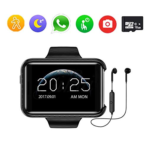 QUARKJK Smartwatch MT6580 Quad Core 2,2 Zoll IPS-Bildschirm 1 GB + 16 GB Android 5.1 OS 1,3 MP Kamera 3G Netzwerk GPS WiFi,Black