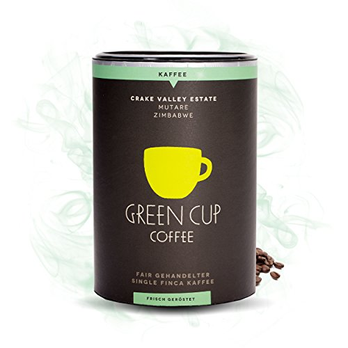 Green Cup Coffee Crake Valley - Arabica Bohnen-Kaffee aus Zimbabwe - fair gehandelte Bio...
