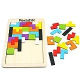 Peradix Tetris Tangram Holzpuzzles Lernspielzeug Intelligenz Pädagigisches Spielzeug für Kinder ab 3 Jahre (Neu Mode)