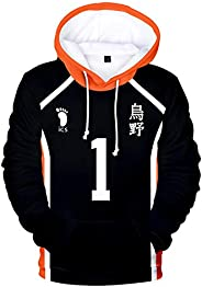 Cosplay Haikyuu Hoodie Sweatshirt volleyball anime haikyuu Figure Uniform Adult Kids Casual Long Sleeve 3D Pul