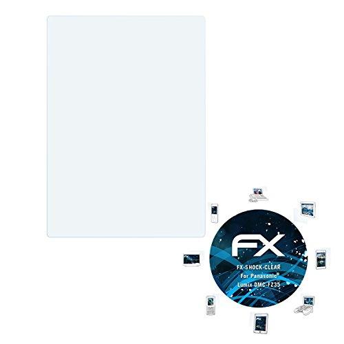 atFoliX Panzerfolie für Panasonic Lumix DMC-FZ35 Folie - 3 x FX-Shock-Clear stoßabsorbierende ultraklare - Panasonic Lumix Fz35