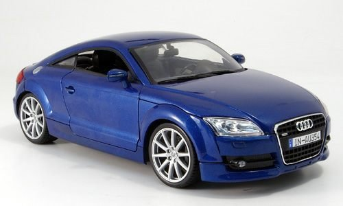Audi TT Coupe, blau, Modellauto, Fertigmodell, Mondo Motors 1:18