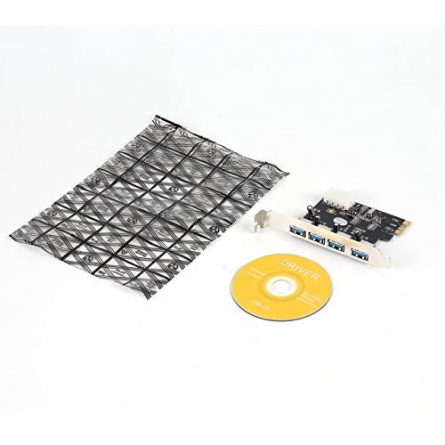 Prima05Sally Superschneller, leistungsstarker, Stabiler VIA-Chipsatz mit 4 Anschlüssen und 5 Gbit/s Superspeed-USB-3.0-PCI-E-PCI-Kartenadapter für XP für Vista für Win7 -