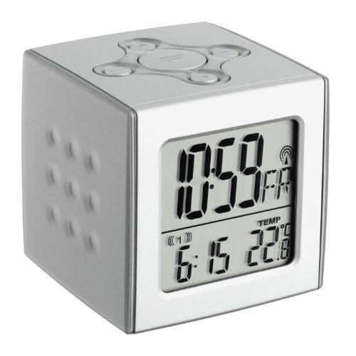 TFA Dostmann Basic Würfelwecker CUBO Funk-Wecker mit Temperatur 602517