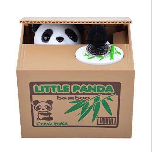 Juguete niños Caja monedas robo oso panda Hucha electrónica