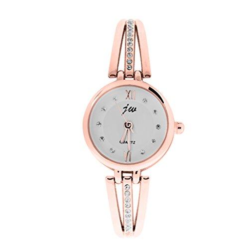 MagiDeal-Kristall-Dame-Armband-Quarz-Uhren-Armbanduhr-Wristwatch-Armbnder-Uhr-Gold