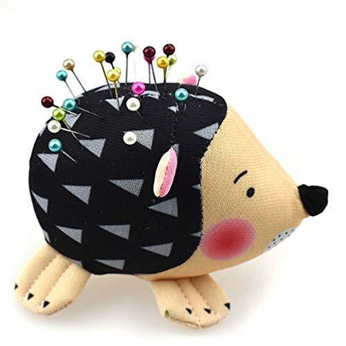 Aicheax puntaspilli - 1pc cartone animato forma di riccio pin porta-cuscino morbido tessuto di cotone puntaspilli strumenti di cucito fai-da-te accessoriping