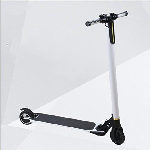 MADICN Scooter Eléctrico Plegable Y Altura Ajustable Scooter Eléctrico E-Scooter para Adolescentes Y Adultos,White