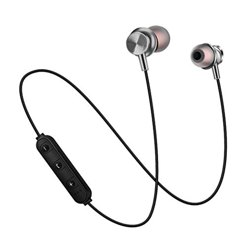 Quiyekes kabellose Bluetooth-Kopfhörer, Noise Cancelling Mic-Kopfhörer, magnetische In-Ear-Ohrhörer für Sport, Fitness, Jogging