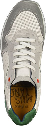 Mustang Herren Sneaker Weiß Weiß (grau/weiss 211)