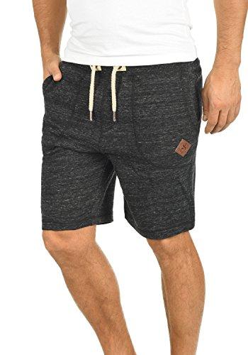!Solid Aris Herren Sweatshorts Kurze Hose Jogginghose mit Melierung und Kordel Regular Fit, Größe:M, Farbe:Black (9000) -