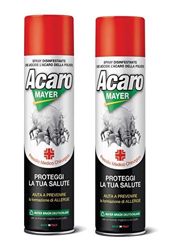 Spray Antiacaro Materasso.2 X Spray Antiacaro Disinfettante Per Materassi Tessuti Divano Acaromayer 400 Ml Spray Specifico Antiacaro Della Polvere Ad Azione Immediata