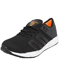 Arexon Men's Synthetic Black Colored Sport Shoe( Men's Running Shoe, Breathable Sports Shoe, High Grip Sports... - B074Q2GWD6