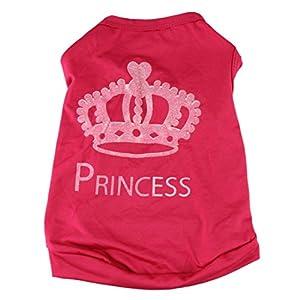 Haustierkleidung,Haustier Hund Katze Niedliche Prinzessin T-Shirt Kleidung Weste Mantel Kostüm von Sannysis (Rosa rot, M)