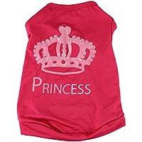 Haustierkleidung,Haustier Hund Katze Niedliche Prinzessin T-Shirt Kleidung Weste Mantel Kostüm von Sannysis