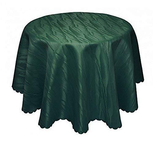 Damasco Mantel verde oscuro No Necesita plancha