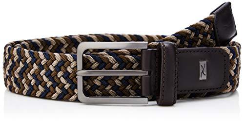 Brax Herren High Flex elastischer Flechtgürtel Gürtel, Braun (Cocoa/Navy 52), 675 (Herstellergröße: 95)