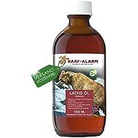 Aceite de salmón de Barf-Alarm para perros, con Omega 3y Omega 6, aceite de pescado para el perro, cachorros, adultos, ancianos y perros deportistas