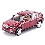 JIANPING Modelo de Coche Coche 1: 32X6 SUV simulación aleación Juguete de fundición a presión joyería de colección de Coche Deportivo joyería 14.5x6x5.8CM Auto Modelo (Color : Rojo)