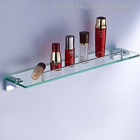 Mensola bagno in ottone cromato vetro